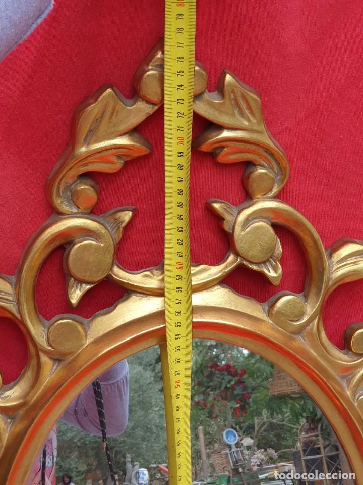 Antigüedades: Cornucopia de madera y pan de oro grande - Foto 10 - 222817583