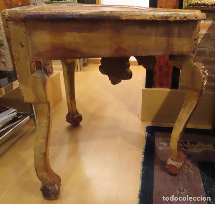 Antigüedades: Consola esquinera madera tallada y dorada España siglo XVIII - Foto 5 - 222817887