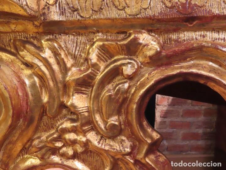 Antigüedades: Consola esquinera madera tallada y dorada España siglo XVIII - Foto 7 - 222817887