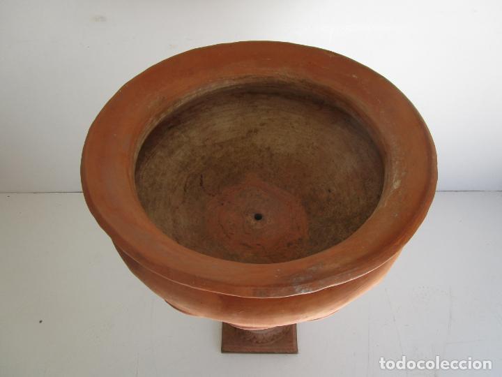 Antigüedades: Jardinera Terracota - Cerámica Marco, Quart - Maceta con Pilar - Ideal Terraza, Jardín - Foto 7 - 222820373