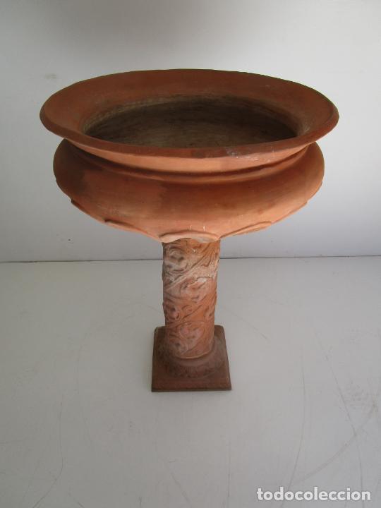 Antigüedades: Jardinera Terracota - Cerámica Marco, Quart - Maceta con Pilar - Ideal Terraza, Jardín - Foto 10 - 222820373