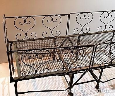 Antigüedades: Cuna de hierro plegable. - Foto 2 - 222822348