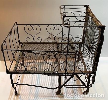 Antigüedades: Cuna de hierro plegable. - Foto 4 - 222822348