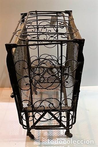 Antigüedades: Cuna de hierro plegable. - Foto 5 - 222822348