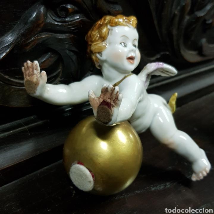 Antigüedades: PRECIOSOS ANGELES QUERUBINES DE PORCELANA ALGORA HS - Foto 5 - 222829877