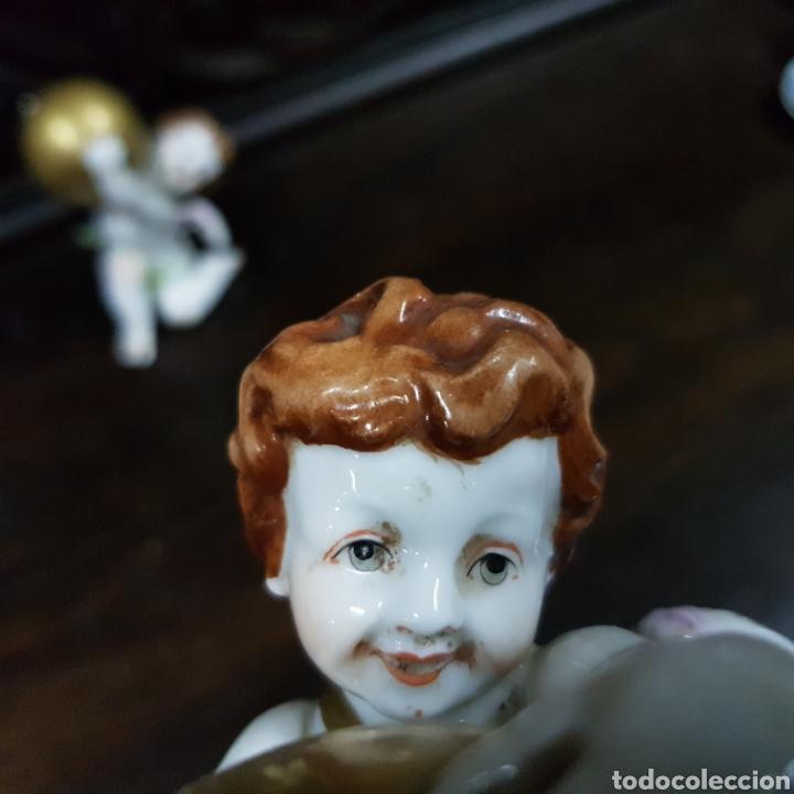 Antigüedades: PRECIOSOS ANGELES QUERUBINES DE PORCELANA ALGORA HS - Foto 15 - 222829877