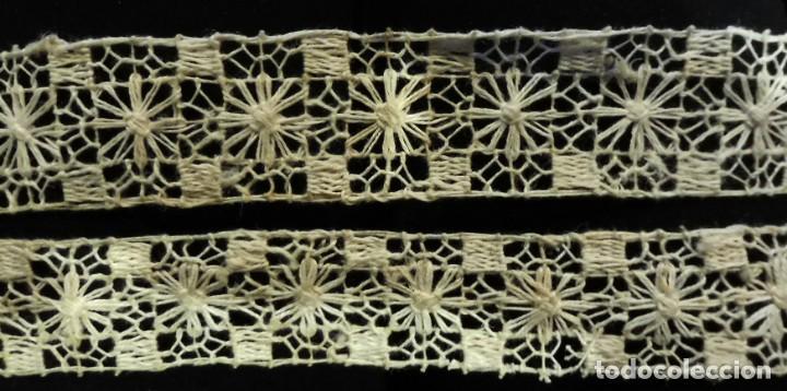 Antigüedades: ANTIGUO ENTREDOS RÚSTICO DE ENCAJE S.XIX - Foto 2 - 222838733