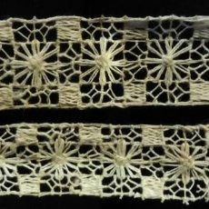 Antigüedades: ANTIGUO ENTREDOS RÚSTICO DE ENCAJE S.XIX. Lote 222838733