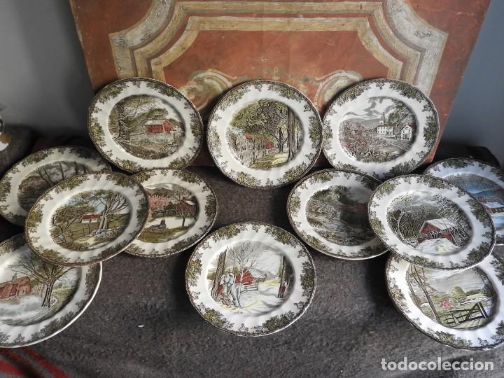 Antigüedades: COLECCION DE PLATOS DE CERAMICA DE PAISAJES DE JOHNSON BROS - Foto 16 - 222840582