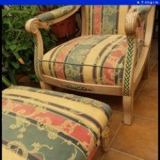 Antigüedades: SOFA FOOTRES , MADERA SIGLO XIX. Lote 222850592