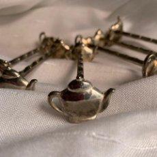 Antigüedades: POSACUBIERTOS DE MESA PLATEADOS PARA SEIS COMENSALES. Lote 222879361
