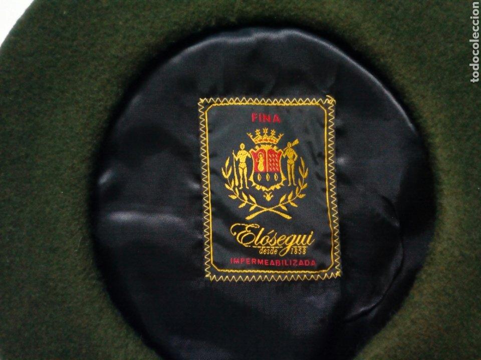 Antigüedades: Boina / Txapela: ELOSEGUI (verde) - Con publicidad de Restaurante Landatxueta - Foto 2 - 222887586