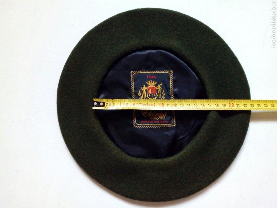 Antigüedades: Boina / Txapela: ELOSEGUI (verde) - Con publicidad de Restaurante Landatxueta - Foto 6 - 222887586
