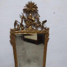 Antigüedades: ESPEJO MADERA TALLADA. Lote 222888423