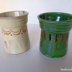 Antigüedades: LAPICEROS DE CERÁMICA DE ÚBEDA. Lote 222892111