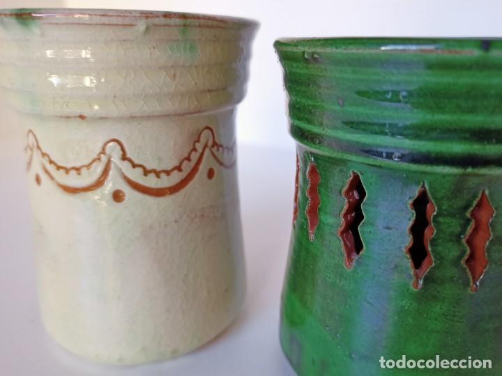 Antigüedades: Lapiceros de cerámica de Úbeda - Foto 2 - 222892111