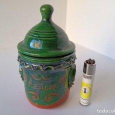 Antigüedades: AZUCARERO DE CERÁMICA DE ÚBEDA. Lote 222892242