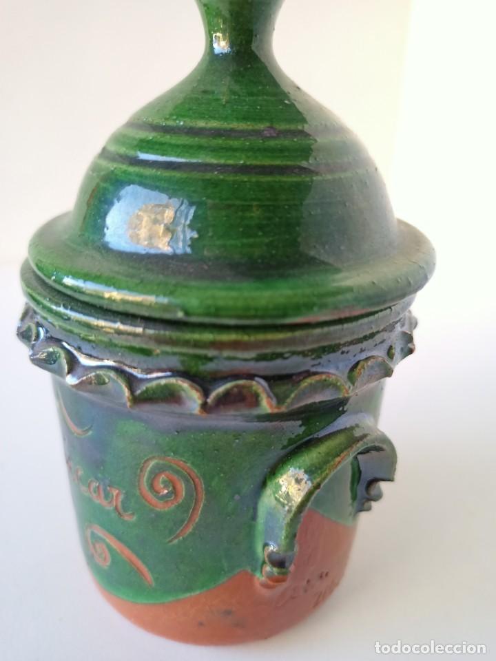 Antigüedades: Azucarero de cerámica de Úbeda - Foto 2 - 222892242