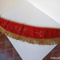 Antigüedades: TELA DE TERCIOPELO Y ORO, ADORNO DE TRONO, SEMANA SANTA, VIRGEN, RELIGIOSO. Lote 222892445