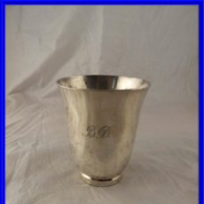 Antigüedades: VASO DE PLATA BATIDA PLATERO MACAZAGA FINALES XIX. Lote 222904698