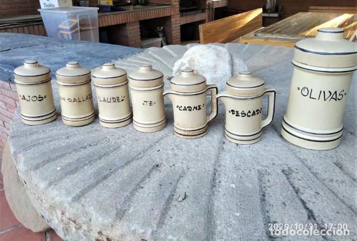 CONJUNTO SIETE PIEZAS (Antigüedades - Porcelanas y Cerámicas - La Bisbal)