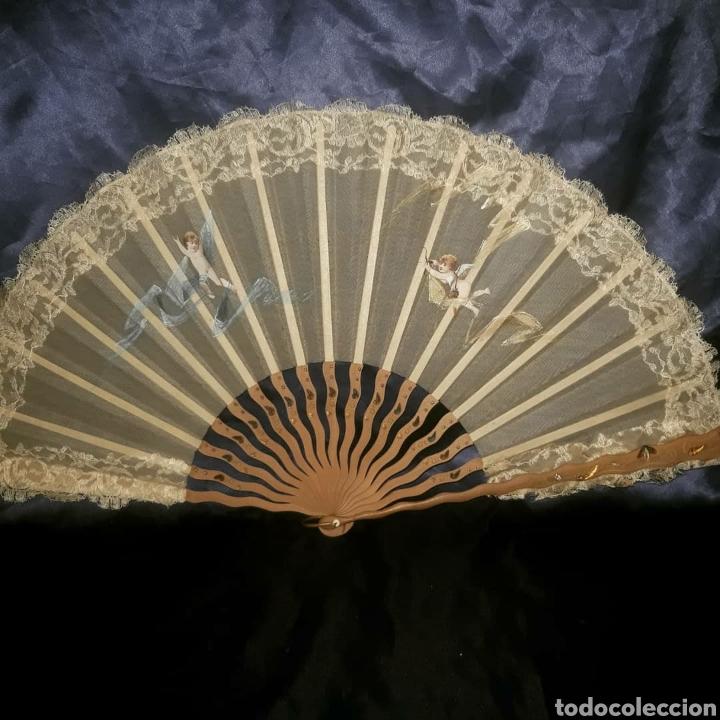ABANICO 1890-1900S (Antigüedades - Moda - Abanicos Antiguos)