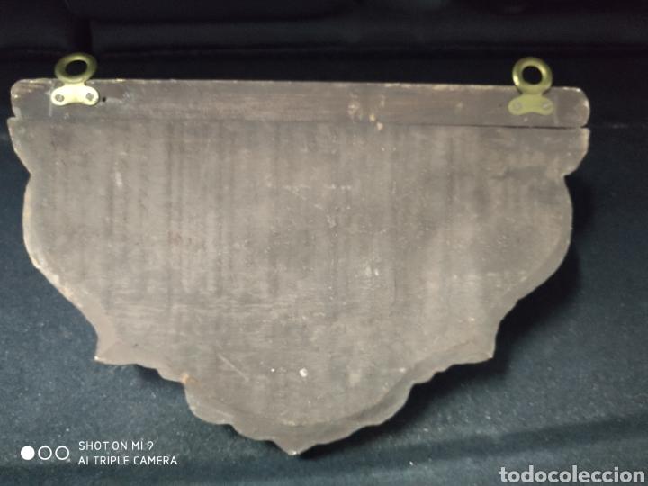 Antigüedades: ANTIGUA PEANA, MÉNSULA, SOPORTE PARA SANTOS, SIGLO XIX, MADERA, PAN DE ORO Y ESPEJOS. - Foto 6 - 222915876