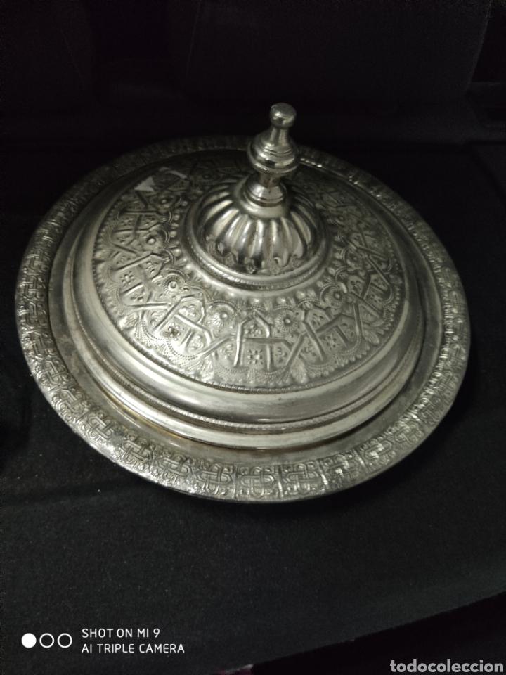 Antigüedades: PRECIOSA BANDEJA ÁRABE PARA PASTELES. - Foto 2 - 222918346