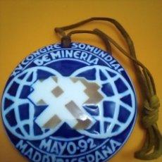 Antigüedades: XV CONGRESO MUNDIAL MINERÍA 1992. Lote 222931917