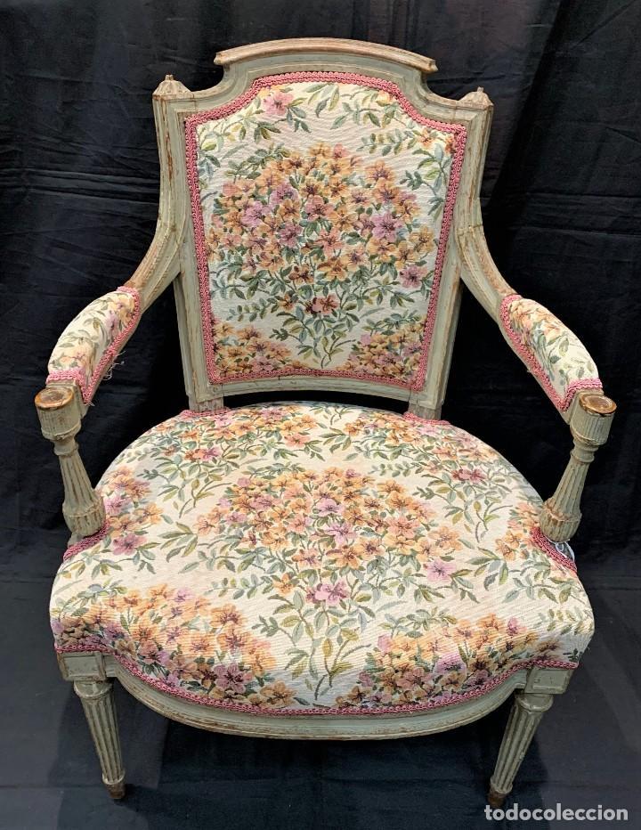 Antigüedades: Par de sillones Luis XVI - Foto 2 - 222958455