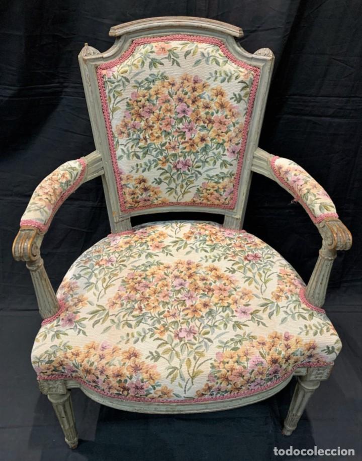 Antigüedades: Par de sillones Luis XVI - Foto 5 - 222958455