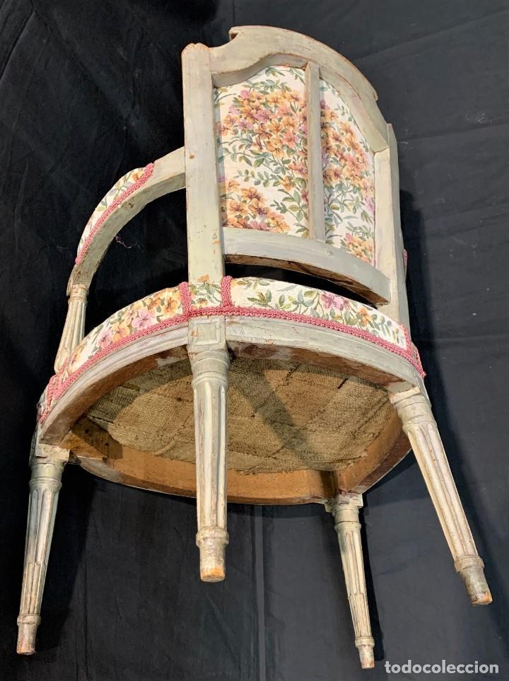 Antigüedades: Par de sillones Luis XVI - Foto 7 - 222958455