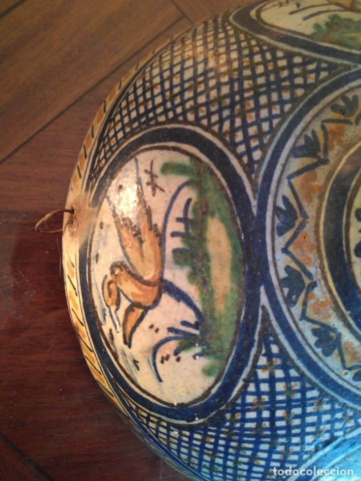Antigüedades: Macetero de colgar de cerámica de Triana. - Foto 2 - 222960031