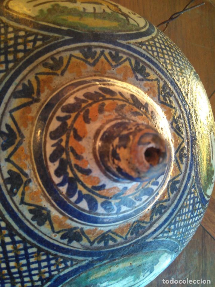 Antigüedades: Macetero de colgar de cerámica de Triana. - Foto 7 - 222960031