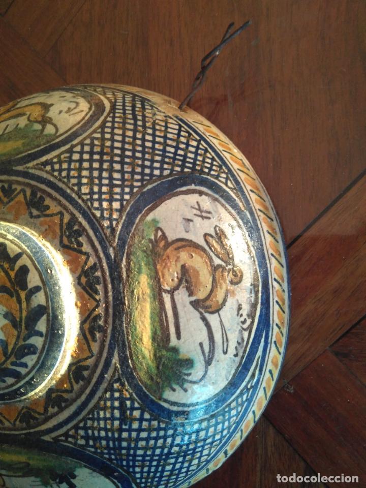 Antigüedades: Macetero de colgar de cerámica de Triana. - Foto 9 - 222960031