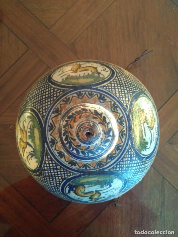 Antigüedades: Macetero de colgar de cerámica de Triana. - Foto 10 - 222960031