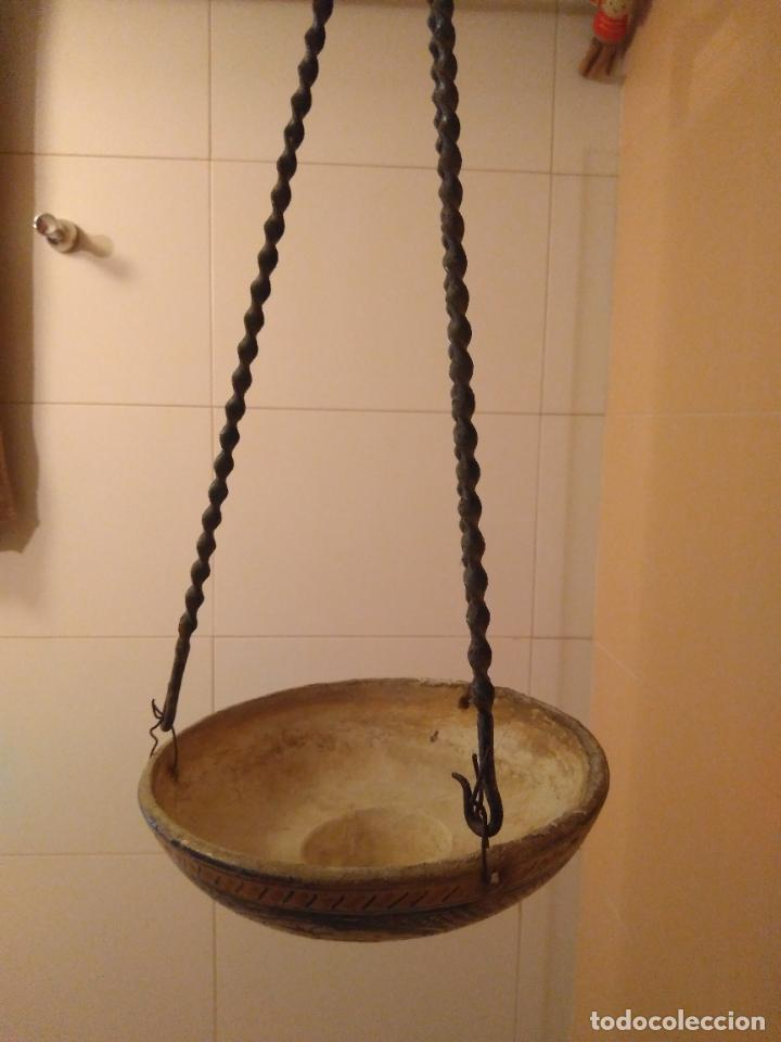 Antigüedades: Macetero de colgar de cerámica de Triana. - Foto 14 - 222960031