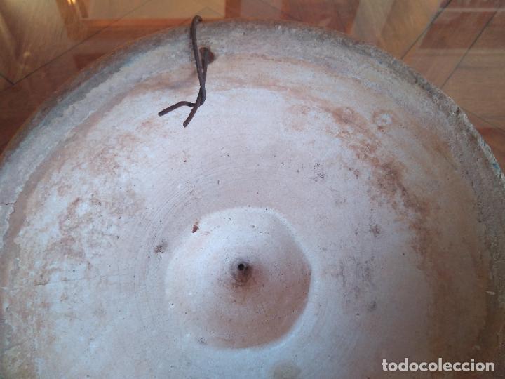 Antigüedades: Macetero de colgar de cerámica de Triana. - Foto 9 - 222960178