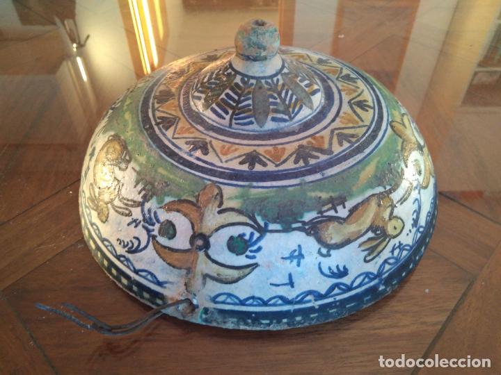 Antigüedades: Macetero de colgar de cerámica de Triana. - Foto 13 - 222960178