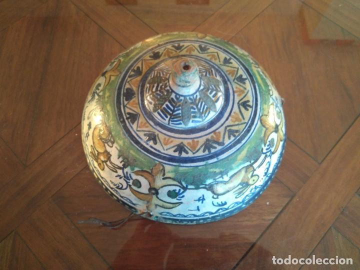 Antigüedades: Macetero de colgar de cerámica de Triana. - Foto 14 - 222960178
