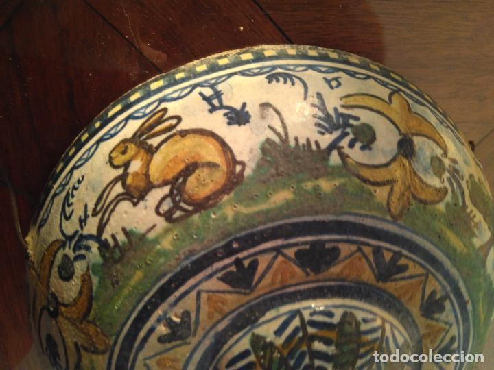 Antigüedades: Macetero de colgar de cerámica de Triana. - Foto 16 - 222960178
