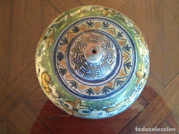 Antigüedades: Macetero de colgar de cerámica de Triana. - Foto 17 - 222960178