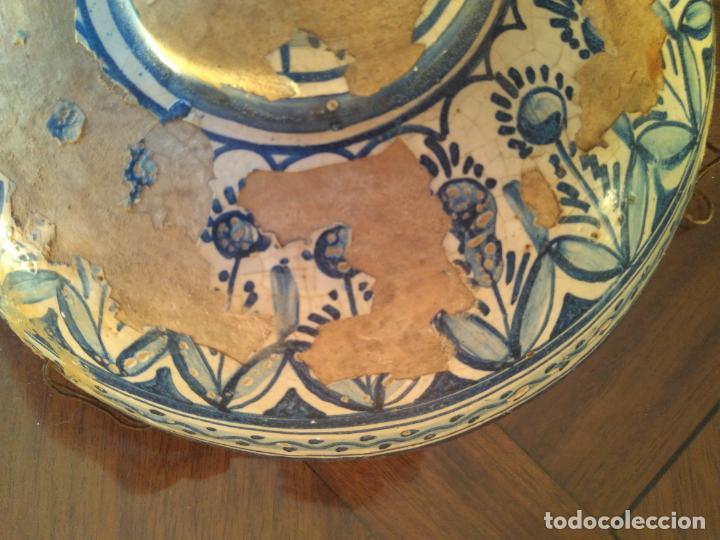 Antigüedades: Macetero de colgar de cerámica de Triana. - Foto 2 - 222960336