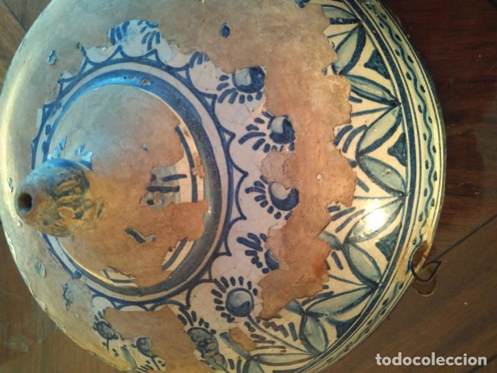 Antigüedades: Macetero de colgar de cerámica de Triana. - Foto 3 - 222960336