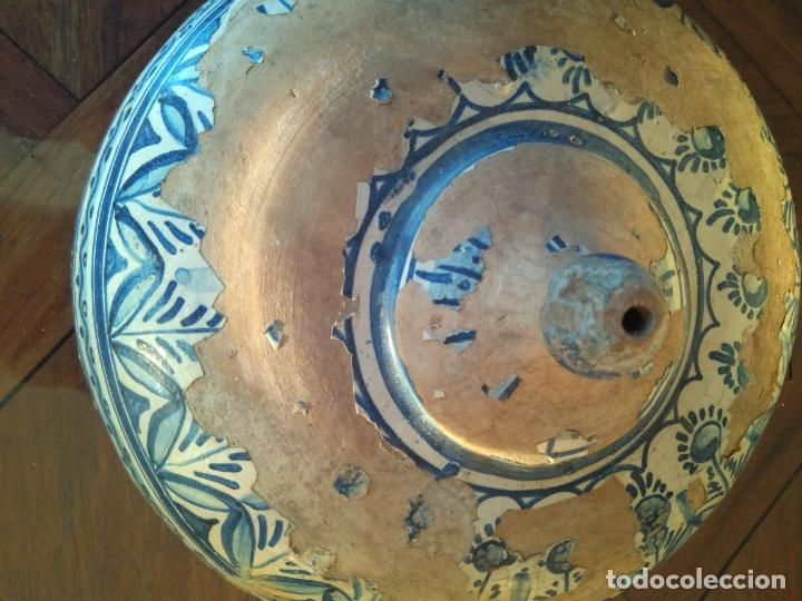 Antigüedades: Macetero de colgar de cerámica de Triana. - Foto 4 - 222960336