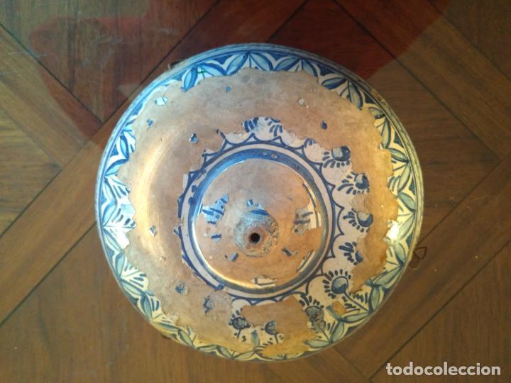 Antigüedades: Macetero de colgar de cerámica de Triana. - Foto 5 - 222960336