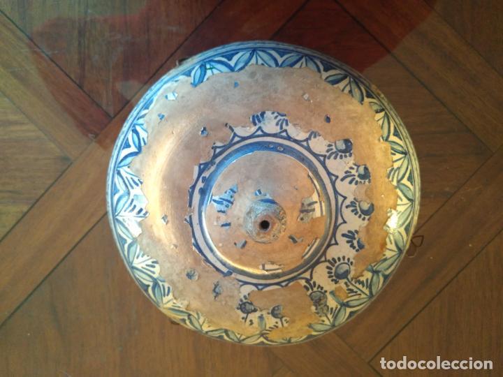 Antigüedades: Macetero de colgar de cerámica de Triana. - Foto 6 - 222960336
