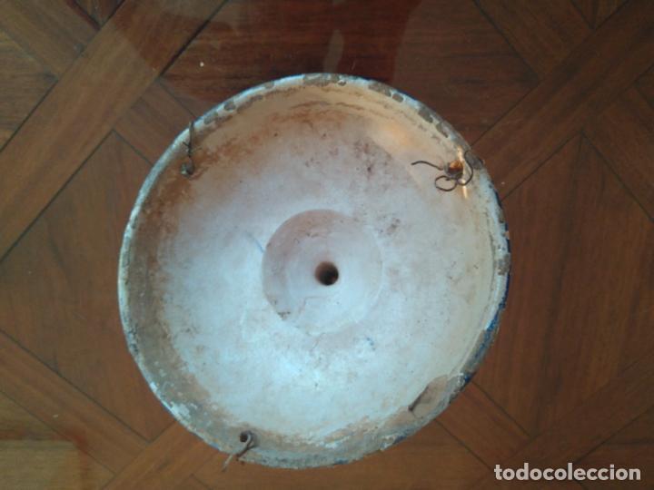 Antigüedades: Macetero de colgar de cerámica de Triana. - Foto 7 - 222960336