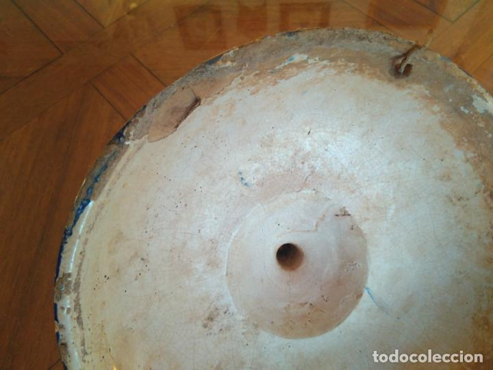 Antigüedades: Macetero de colgar de cerámica de Triana. - Foto 8 - 222960336