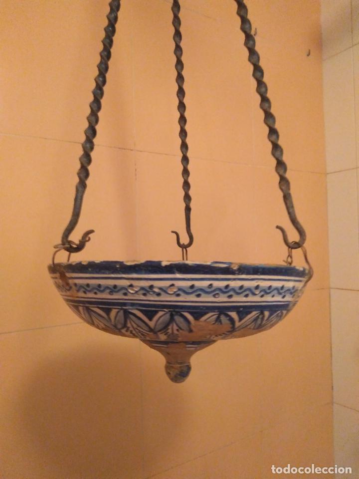 MACETERO DE COLGAR DE CERÁMICA DE TRIANA. (Antigüedades - Porcelanas y Cerámicas - Triana)